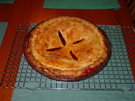 Strawberry and Red Wine Pie