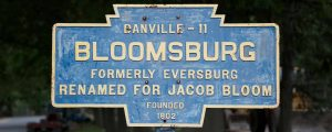 Bloomsburg Keystone Sign