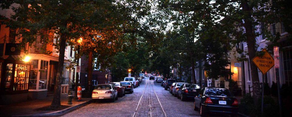 P Street, Night